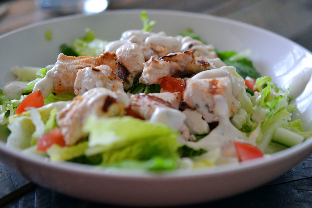 CHICKEN SOUVLAKI SALAD | AMBS LOVES FOOD