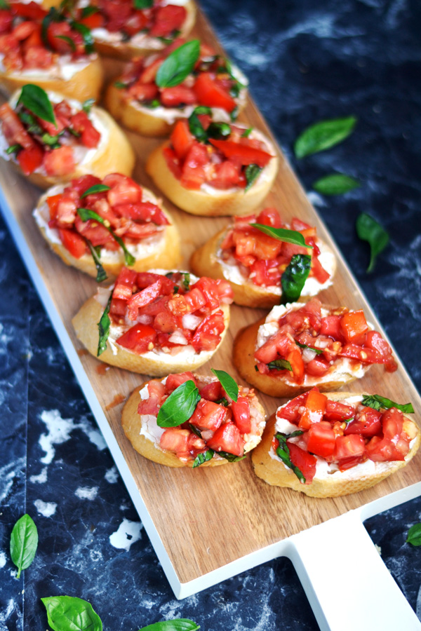 Plated Goats Cheese Bruschetta