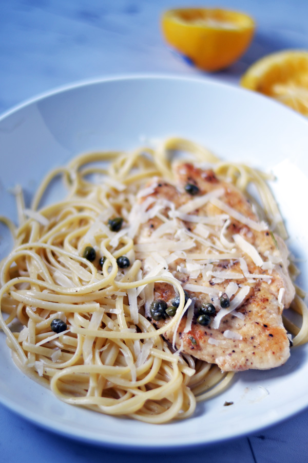 Front view of Lemon Chicken Piccata