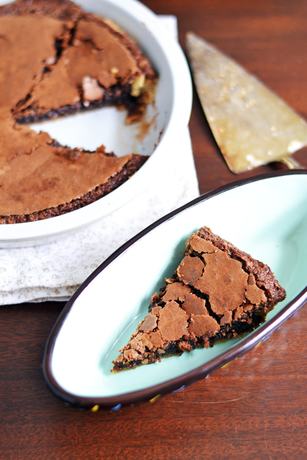 Plated Easy Chocolate Pie.