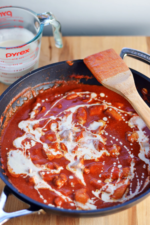 Tomato cream sauce for Indian Butter Chicken.